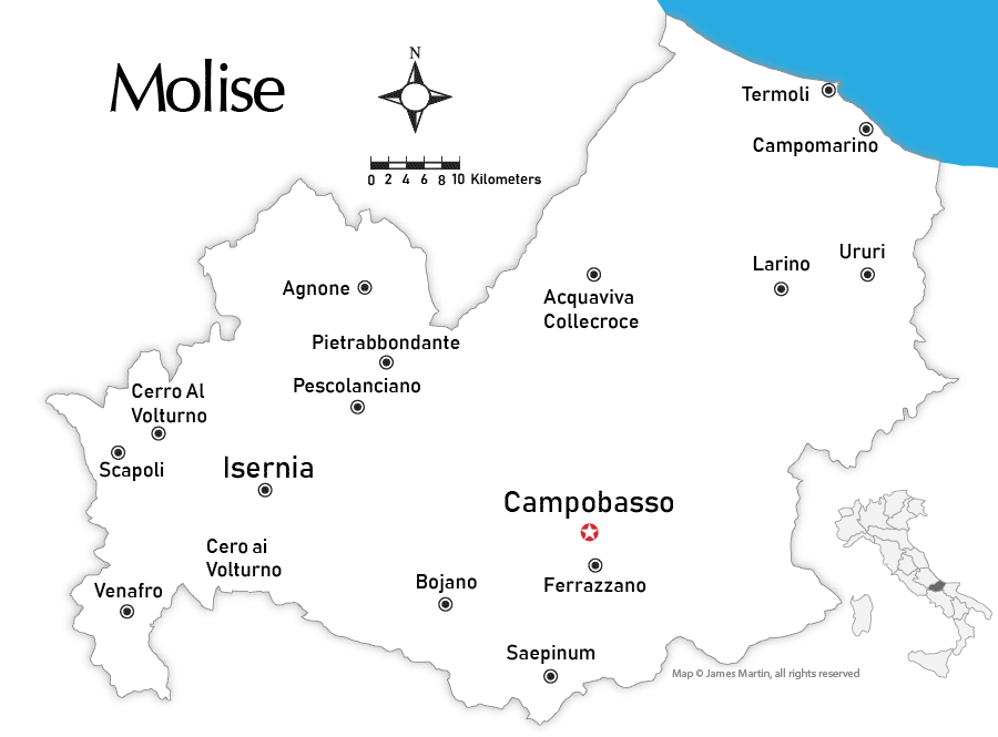 Molise City Maps and Travel Guide Wandering Italy