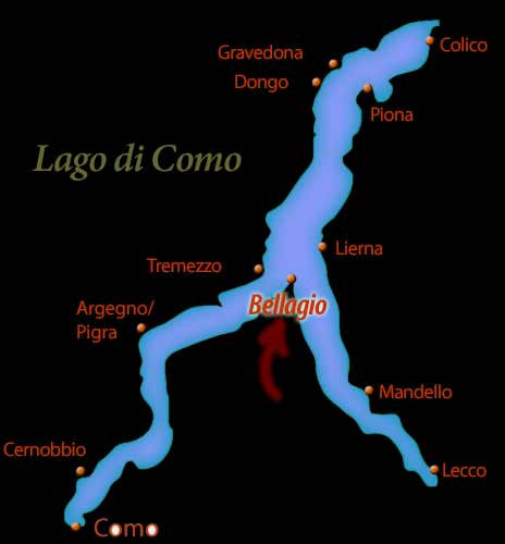 bellagio location map