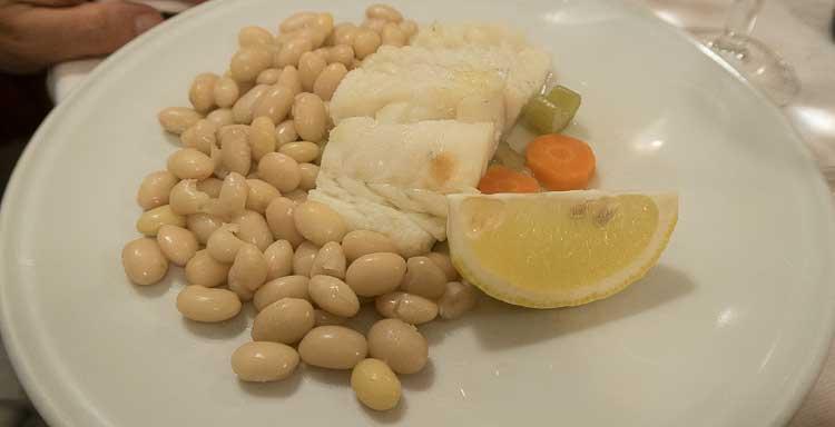 salt cod and beans