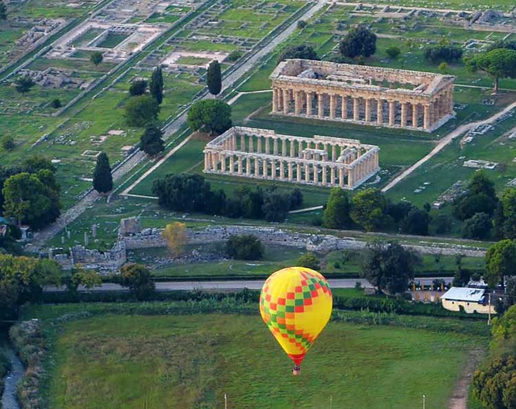 paestum hot air balloon