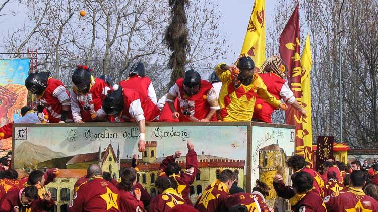 knights at the ivrea festival