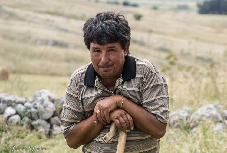 a shepherd in Puglia