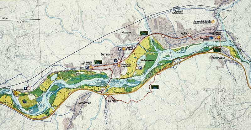 aulla greenway map
