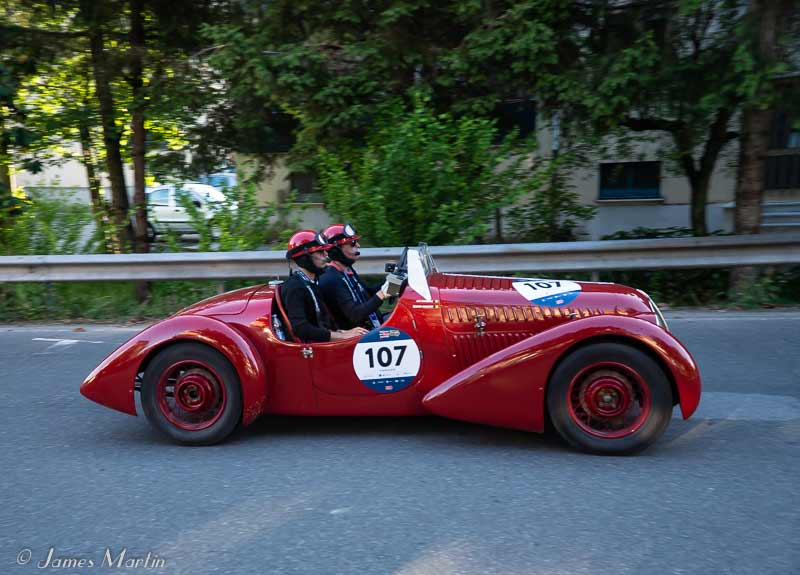 mille miglia red car