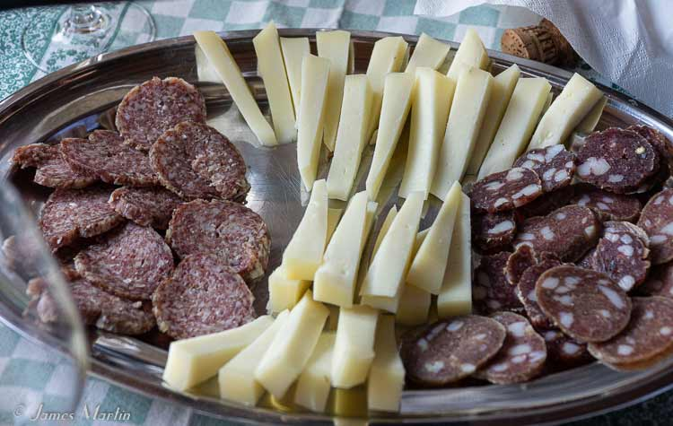 le marche salami and pecorino cheese