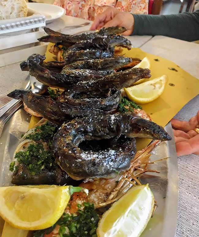 roast eel in sardinia