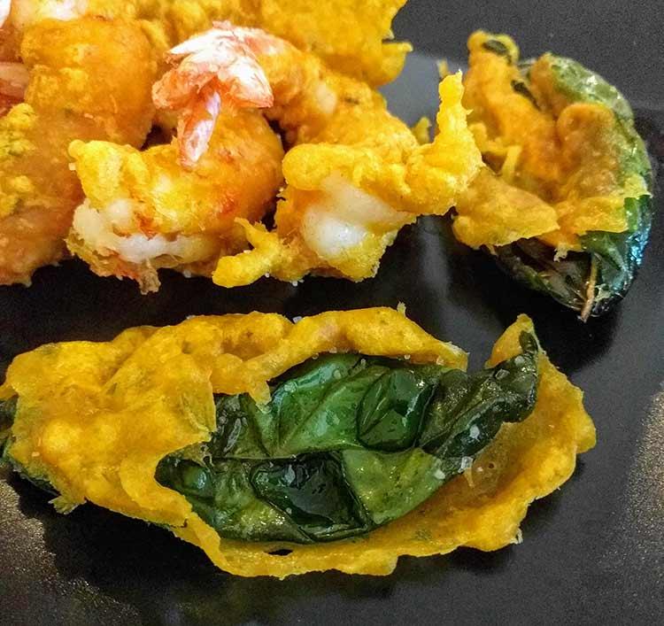 shrimp and basil