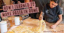 making pasta in rome