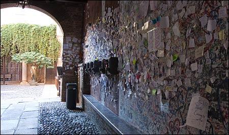 giulietta's house, courtyard, verona, italy