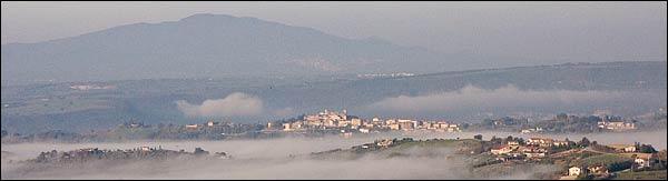 orte, umbria, fog