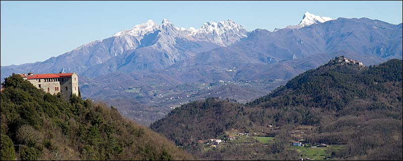 View of Mountains from Podenzana, Italy