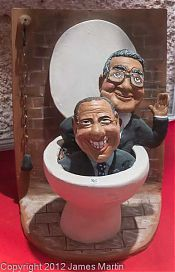 politicians in a toilet picture