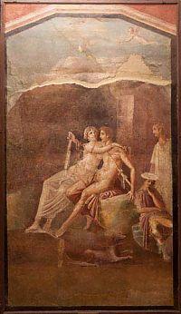rome bedroom fresco