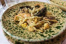 trofie seafood pasta picture