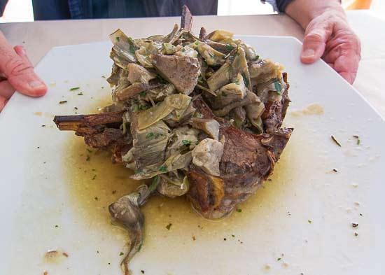 lamb artichokes picture