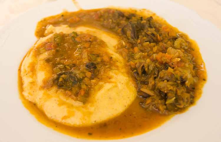 snail polenta picture