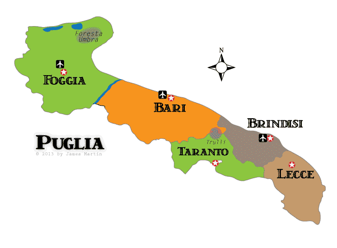 Puglia Maps and Travel Guide Wandering Italy