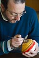 Iconography-painting an ostrich egg