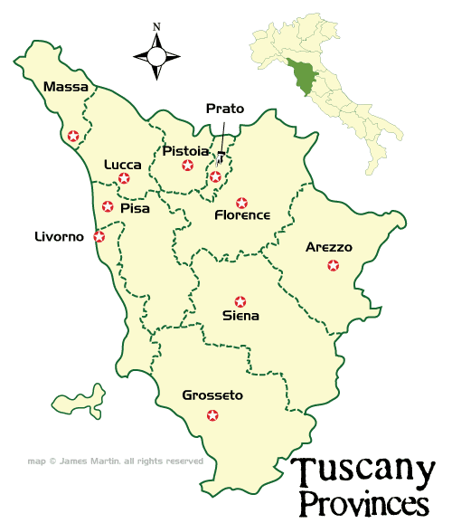 Tuscany Italy Map Of Area.Tuscany Maps And Travel Guide Wandering Italy