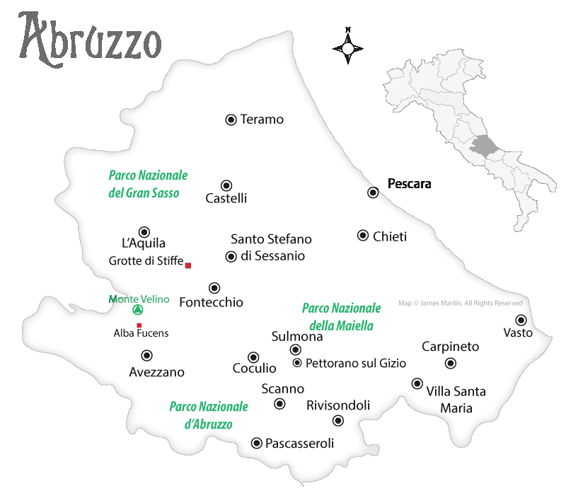 abruzzo travel map