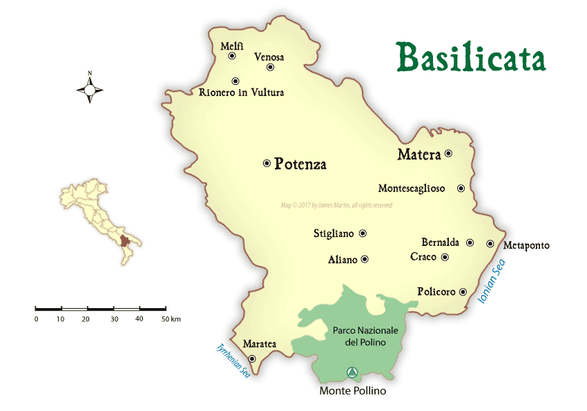 Basilicata Map and Travel Guide | Wandering Italy