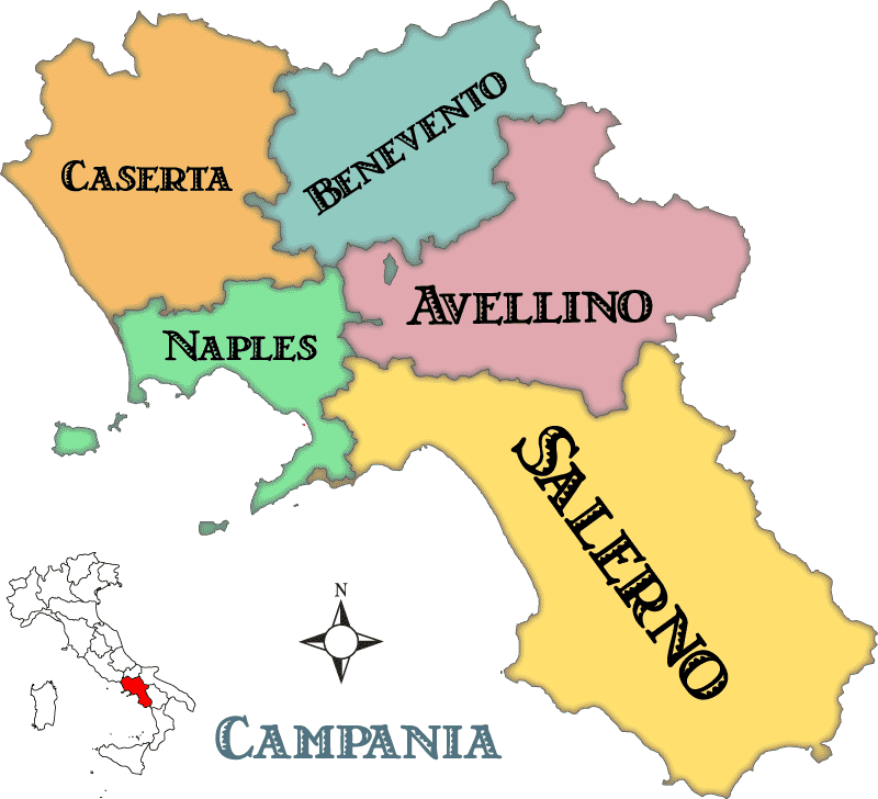 Map Of Southern Italy Regions.Campania Maps And Travel Guide Wandering Italy