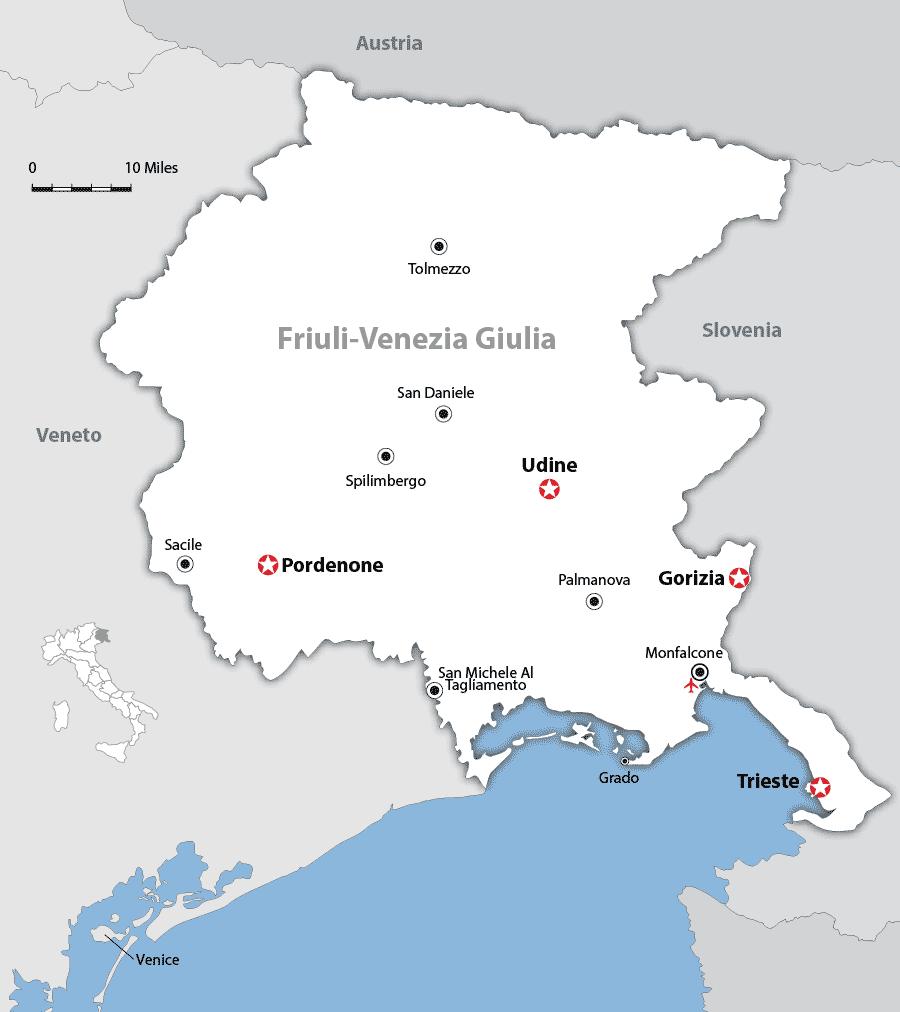 Friuli Venezia Giulia Map and Guide Wandering Italy
